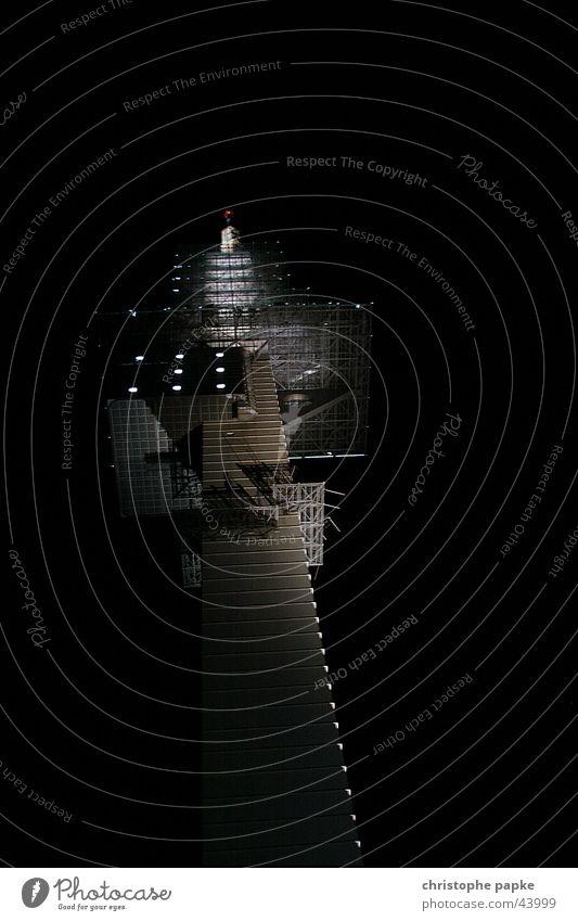 TeleMax II schwarz dunkel Architektur Beleuchtung modern Turm Telekommunikation Bauwerk Fernsehen Informationstechnologie Farbe Antenne Hannover gigantisch