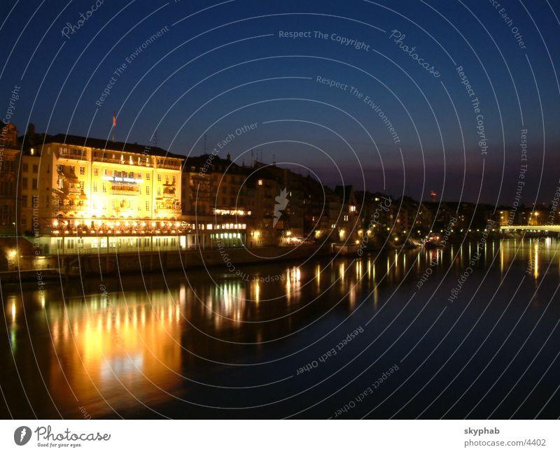 hotel 3 könige Reflexion & Spiegelung Nacht Langzeitbelichtung Wasser Licht