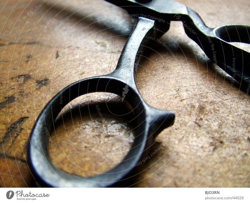 Goldenes Handwerk #2 alt Metall Werkstatt Werkzeug Griff Scheune Haushalt geschnitten Schere