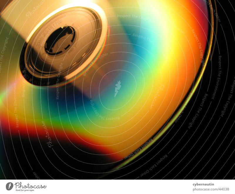 CD-Rom Spektralfarbe Reflexion & Spiegelung mehrfarbig rund Elektrisches Gerät Technik & Technologie Fensterscheibe Compact Disc Software