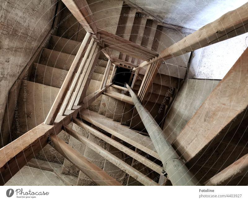 Lost Place - Das Treppenhaus einer alten Kartoffelflockenfabrik verlassen kaputt verfallen Vergänglichkeit Vergangenheit Menschenleer Zahn der Zeit Verfall