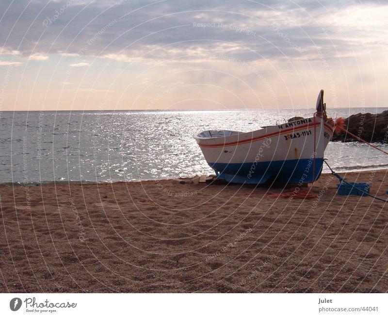 On the Beach Sonne Strand Ferien & Urlaub & Reisen Wasserfahrzeug Horizont Europa Spanien