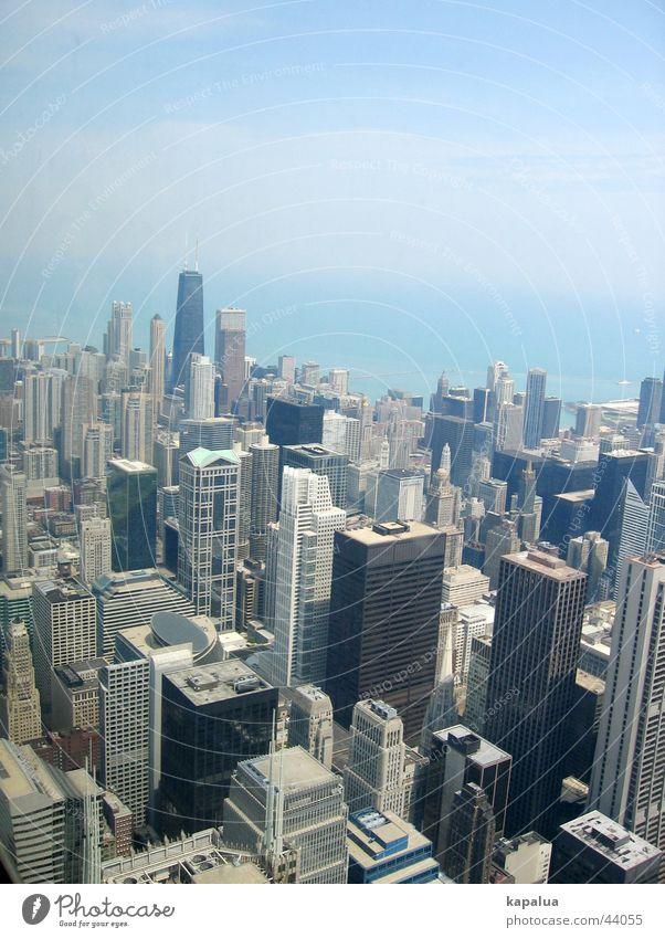 Chicago von oben Hochhaus Sears Tower Stadt Architektur Himmel