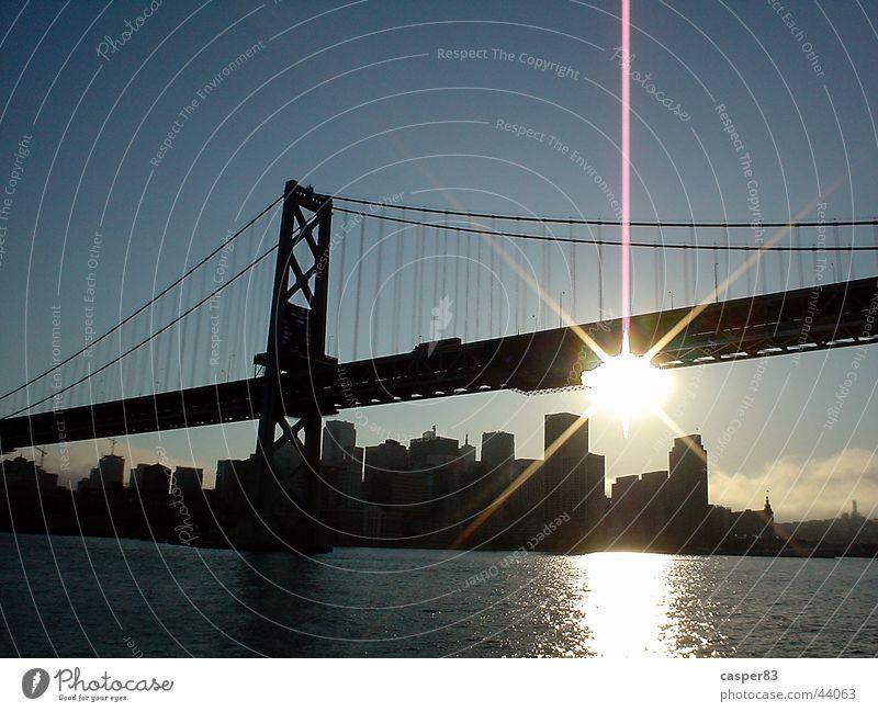 Golden Gate Golden Gate Bridge San Francisco Amerika Sonnenuntergang Stadt New York City Brücke Wasser