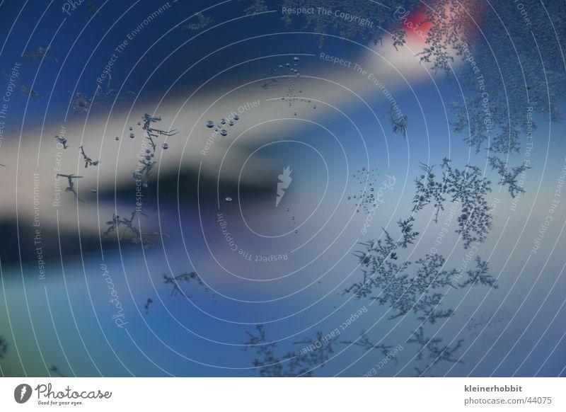 Eiskristalle kalt Schnee Flugzeug Eisblumen