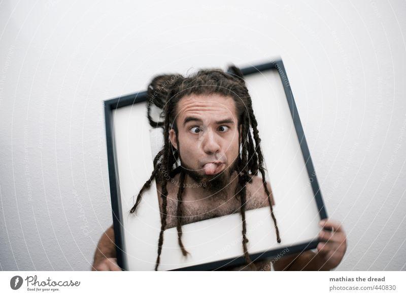 FEHLVERSUCH Mensch maskulin Junger Mann Jugendliche Körper Kopf Haare & Frisuren 1 18-30 Jahre Erwachsene Bewegung außergewöhnlich eckig einzigartig lustig