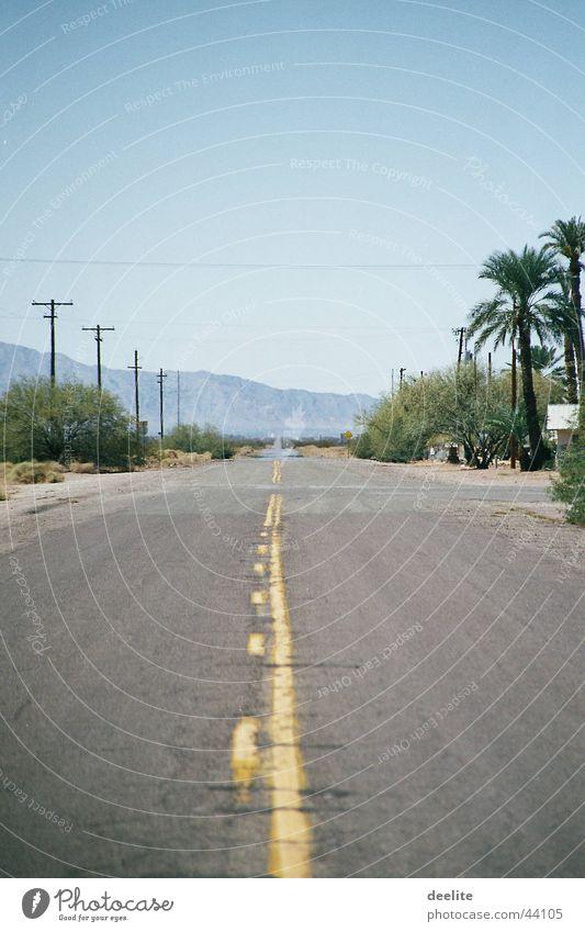 yellow line Arizona Kalifornien