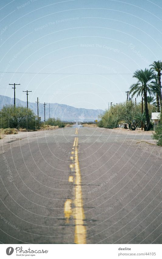 yellow line Kalifornien Arizona