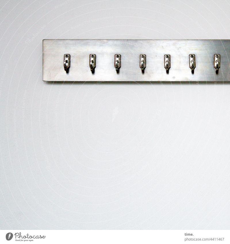 Wahlfreiheit haken garderobe wand sieben metall befestigt glänzen Hängevorrichtung