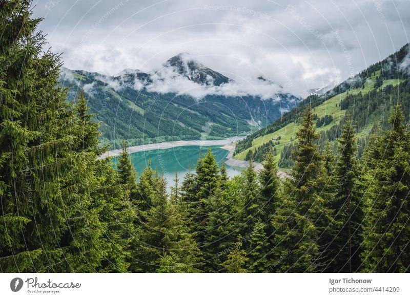 Schlegeis Stausee Blick vom Bergwanderweg. Zillertal, Österreich, Europa schlegeis stausee Ansicht schön See wandern tirol Trekking Wasser reisen Natur