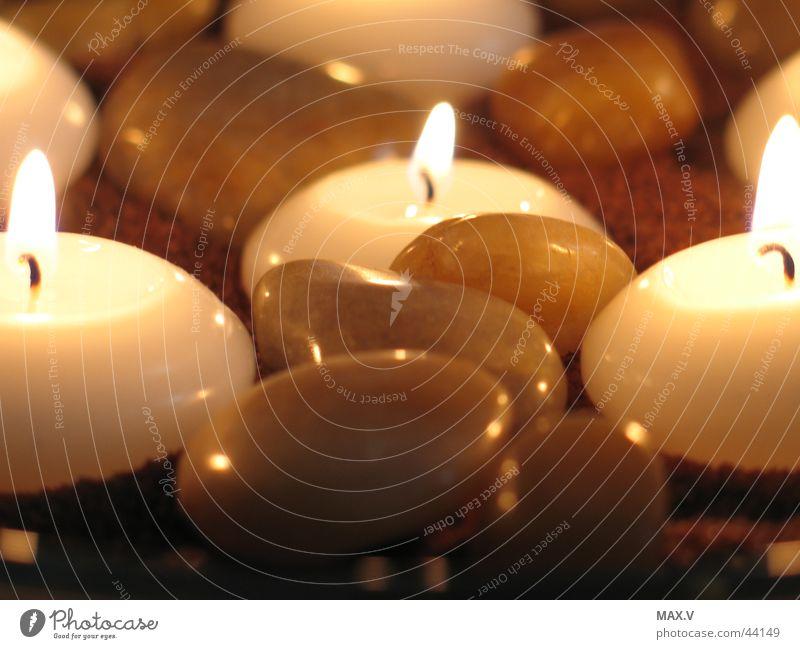 Rebekkas Kerzen Stein glänzend Brand Kerze nah Häusliches Leben brennen Wachs Kerzendocht
