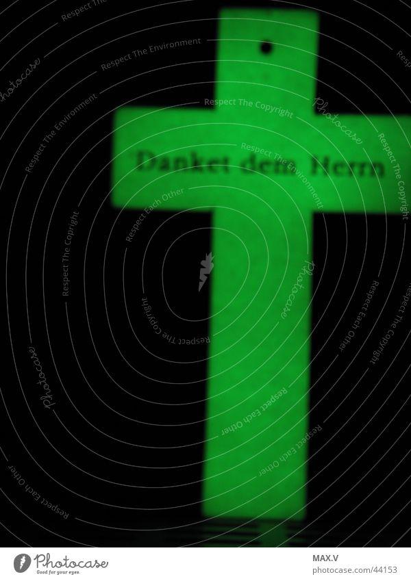 Aufleuchten grün Leben Tod Religion & Glaube Beleuchtung Rücken Gott danke schön Götter Christentum Herr Redewendung fluoreszierend