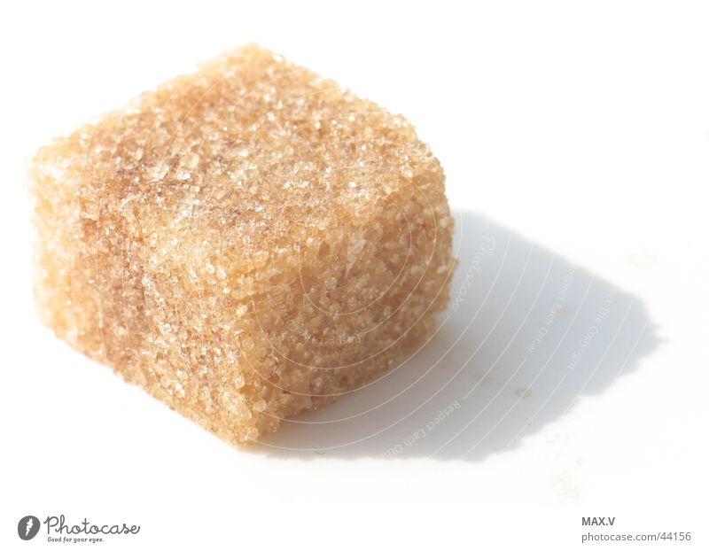 Zuckerwürfel Würfelzucker süß braun Ernährung Kristallstrukturen