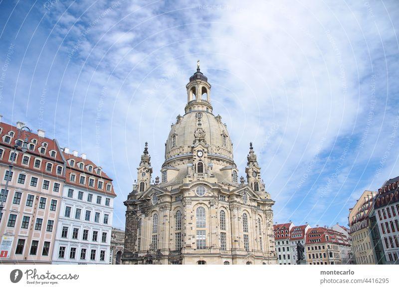 Frauenkirche Dresden | MT Dresden 2021 Gotteshäuser Sandstein Wahrzeichen Religion & Glaube Sehenswürdigkeit Altstadt Sachsen Kuppeldach Architektur sakralbau