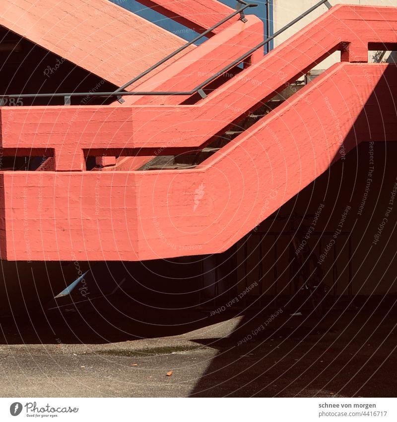 Orte des studierens lll. Architektur Moderne Architektur modern Gebäude Haus Fassade Hochhaus Außenaufnahme Treppe Farbfoto Bauwerk Fenster Strukturen & Formen