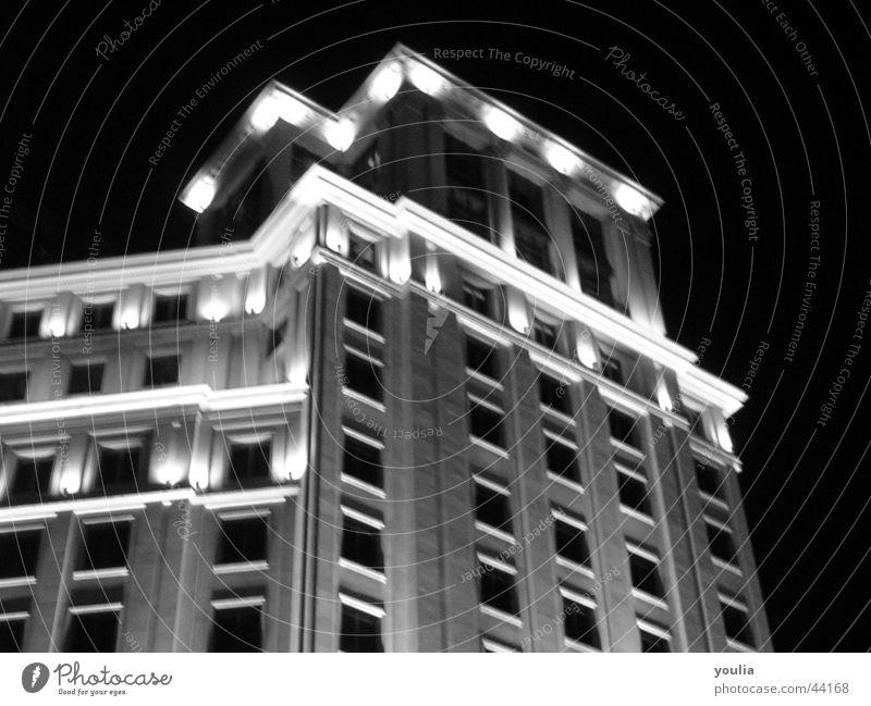 Stadt Himmel Haus dunkel Fenster Gebäude Architektur hoch Fassade Etage Säule Barcelona Nachtleben