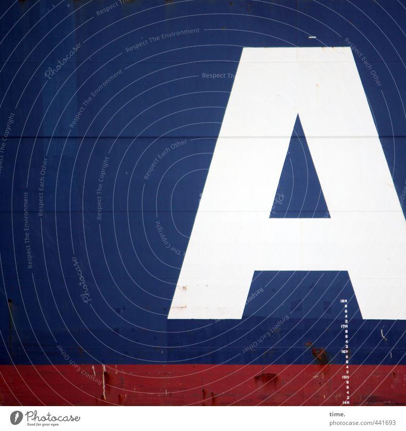 Meeresungeheuer Maßband Schifffahrt Binnenschifffahrt Containerschiff Wasserfahrzeug maritim Metall Zeichen Schriftzeichen Schilder & Markierungen fahren