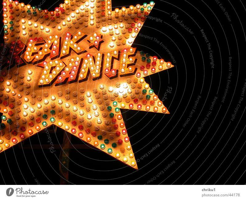 Break Dance Jahrmarkt Fahrgeschäfte Nacht Licht Lampe Leuchtreklame Freizeit & Hobby Schilder & Markierungen Stern (Symbol) blinken