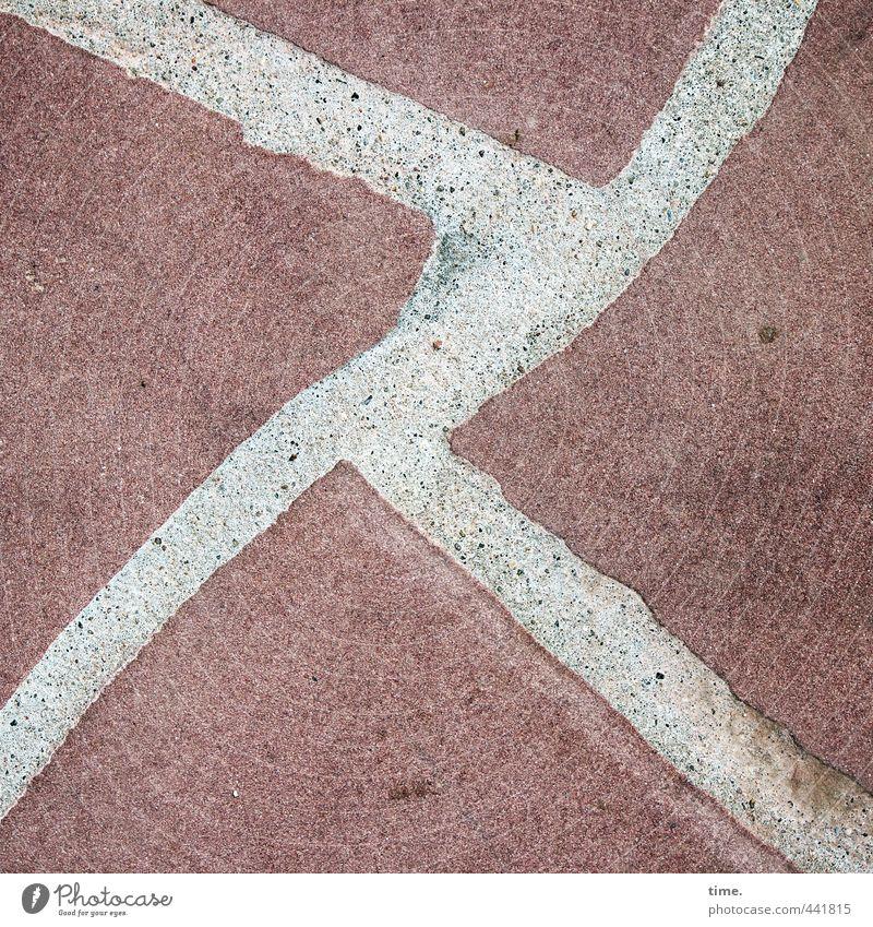 nach dem Laufen abwärmen Bewegung Wege & Pfade Architektur Stein Linie dreckig Zufriedenheit Ordnung Perspektive planen Kreativität Netzwerk Fußweg sportlich