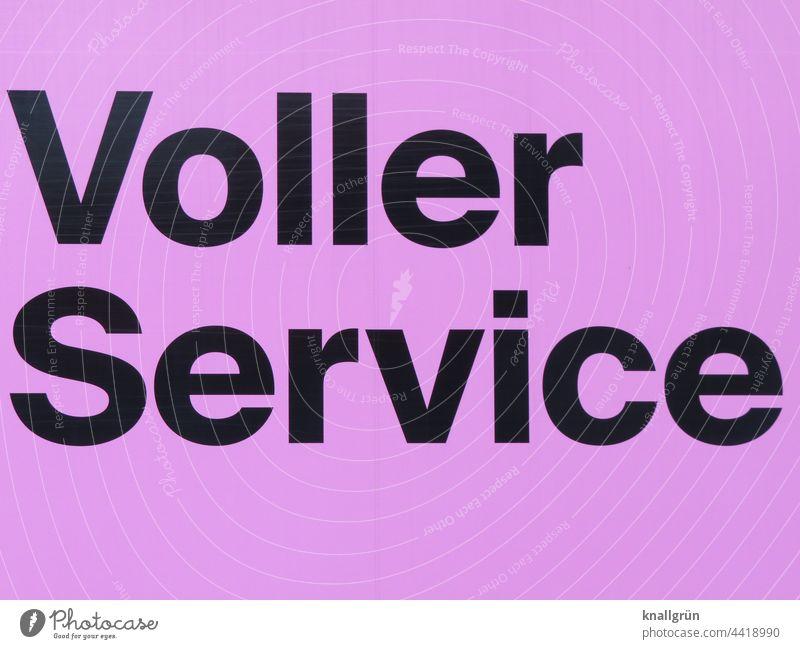 Voller Service Dienstleistungsgewerbe Versorgung Bedienung Hilfe Komfort Arbeit & Erwerbstätigkeit Erwartung Luxus Buchstaben Wort Satz Letter Text Mitteilung