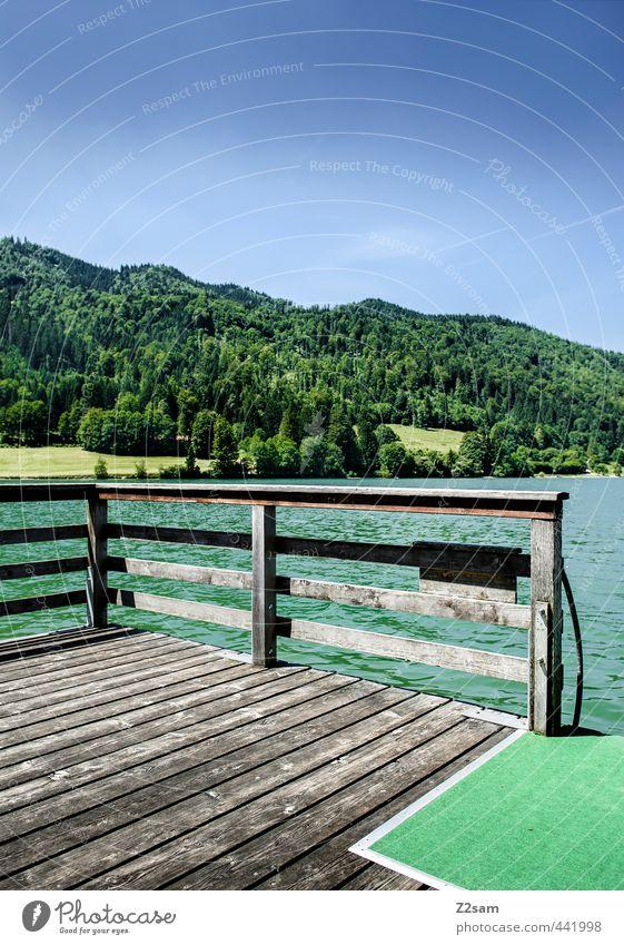 da lässt es sich aushalten Natur Ferien & Urlaub & Reisen blau grün Sommer Erholung Einsamkeit ruhig Landschaft Berge u. Gebirge Schwimmen & Baden See