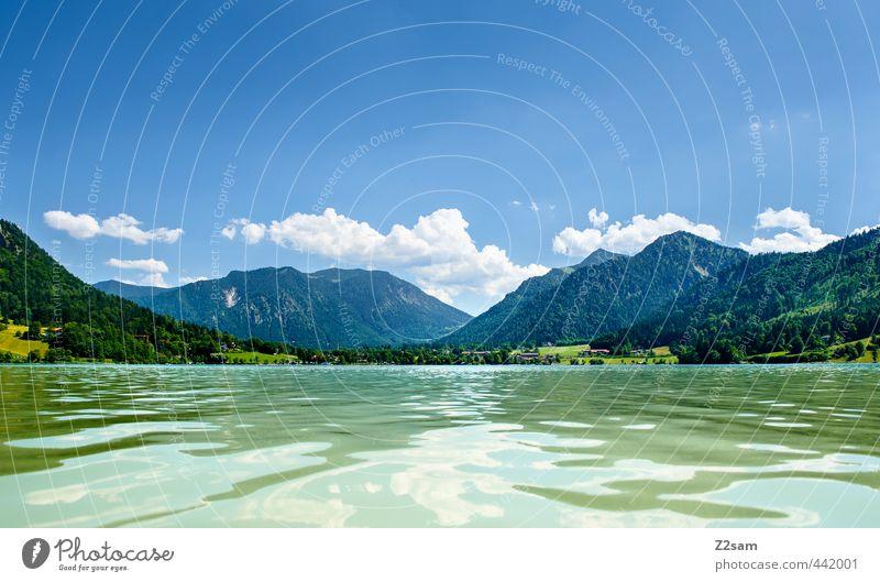 Schliersee Himmel Natur Ferien & Urlaub & Reisen grün Wasser Sommer Erholung Einsamkeit ruhig Landschaft Wolken Berge u. Gebirge Freiheit natürlich Horizont