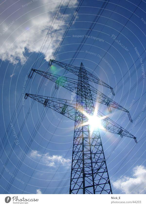 Hochspannungsmast Strommast Hochspannungsleitung Stromtransport Elektrizität Elektrisches Gerät Technik & Technologie UCTE