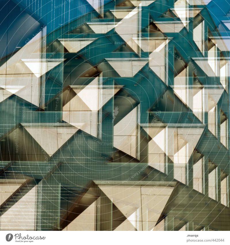 Fassade Stil Design Bauwerk Gebäude Architektur Fenster außergewöhnlich trendy einzigartig modern verrückt chaotisch Perspektive Irritation Doppelbelichtung
