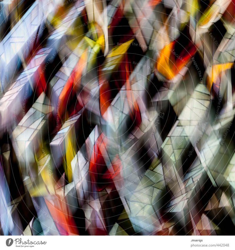 Holy Lifestyle elegant Stil Design Kunst Fenster Glas außergewöhnlich Coolness trendy verrückt mehrfarbig chaotisch Farbe Perspektive Religion & Glaube Farbfoto