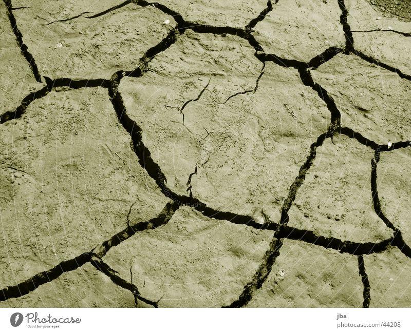 orange Wasser dreckig trocken Spalte getrocknet Seegrund