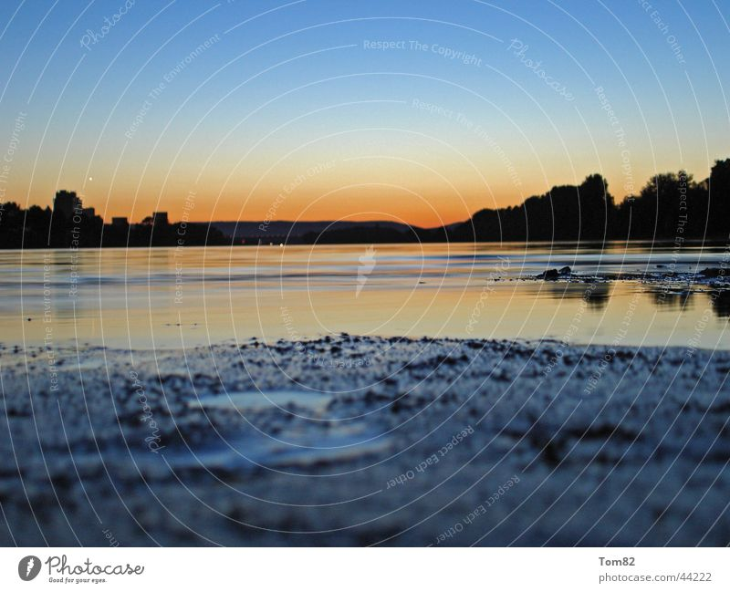 Sunset Wasser Himmel Strand Farbe