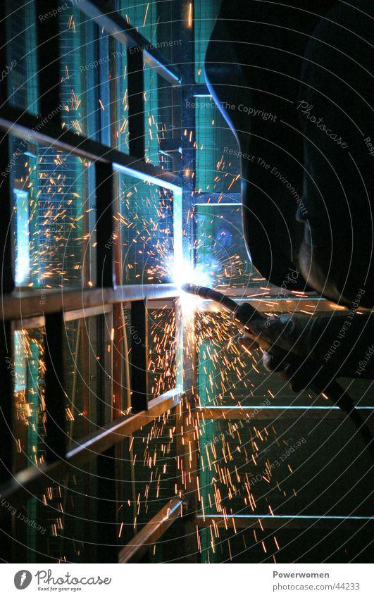 Schweißmpressionen Kraft Industrie Energiewirtschaft Funken Schweißen