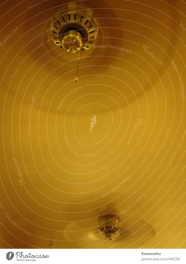 An der Decke hängen gelb Bewegung Stil braun oben Luft Häusliches Leben Wind Bar drehen Decke beige Ventilator