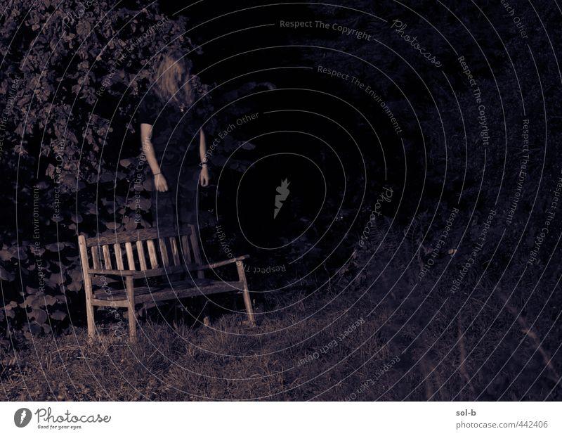 Mensch Natur Jugendliche alt Pflanze Einsamkeit Junger Mann Erwachsene 18-30 Jahre dunkel Traurigkeit Tod Garten Angst trist stehen