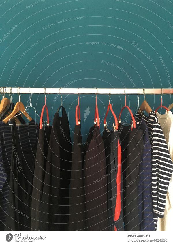 einfach mal wieder abhängen Frisch frisch gewaschen trocknen Wand Schlafzimmer Kleiderbügel Kleidung Kleiderstange gerade Sauberkeit Bekleidung Haushalt