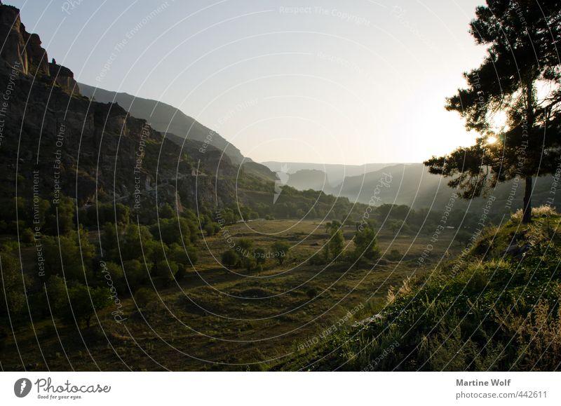 sunrise in Georgia Ferien & Urlaub & Reisen Ausflug Ferne Freiheit Natur Landschaft Baum Hügel Wardzia Georgien Asien Europa ruhig Idylle aufwachen Farbfoto