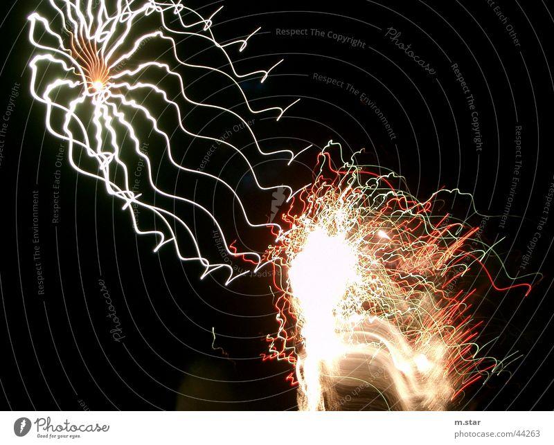 no idea #2 Langzeitbelichtung Silvester u. Neujahr Canda schwarz grell Explosion fireworks Feuerwerk