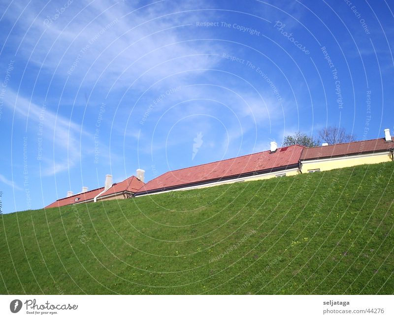 Der berg mit dem dach Himmel Grass Sky Housetop Azure Fringe