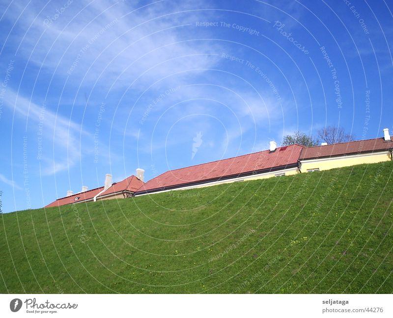 Der berg mit dem dach Himmel