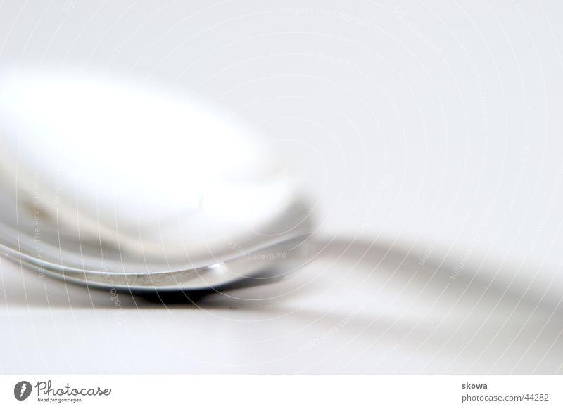 löffel Küche Löffel weiß Unschärfe Reflexion & Spiegelung Häusliches Leben Metall
