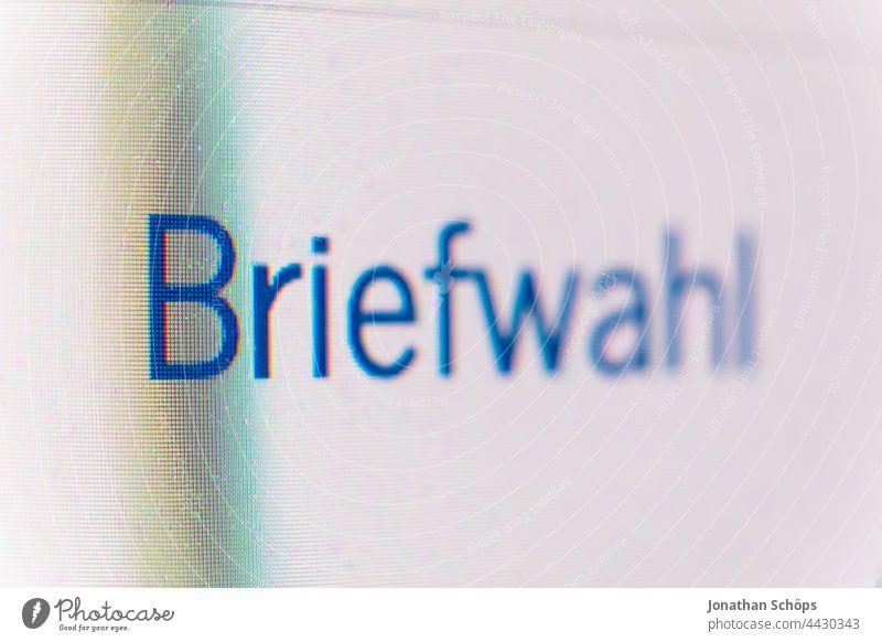 Bundestagswahl 2021, online digital Briefwahl beantragen Antrag Bildschirm Computer Demokratie Handy Klimawahl Nahaufnahme Parlament Pixel Politik