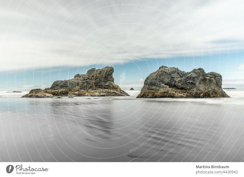Ruby Beach an der Westküste, Olympic National Park, Washington olympisch Strand Rubin Ruhe Langzeitbelichtung Ufer Natur Washington State Meer Küste Zen Spa