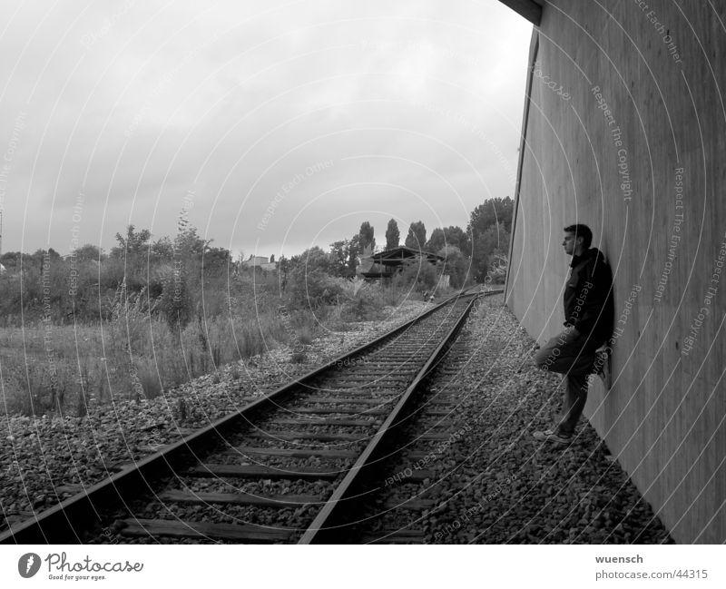 wuensch II schwarz weiß Wand Stil Mann Schwarzweißfoto Pascal Wünsch Mensch