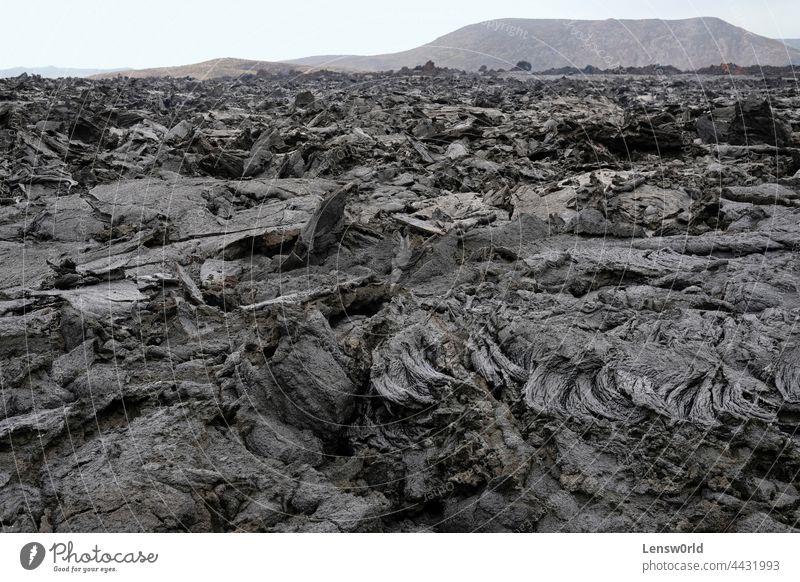 Lavafeld des jüngsten isländischen Vulkans, Geldingadalir schwarz geldingadalir heiß Island Landschaft Magma Felsen Rauch Stein tektonisch vulkanisch