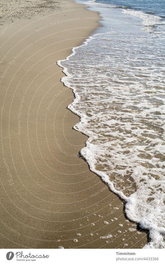 Wellen, Sand und Strand Nordsee Gischt Meer Ferien & Urlaub & Reisen Küste Sommer Linien Dänemark Menschenleer