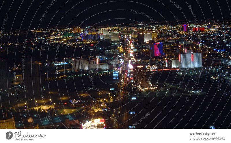 Las Vegas Strip Striptease Nacht Horizont Nordamerika Stratosphere Skyline