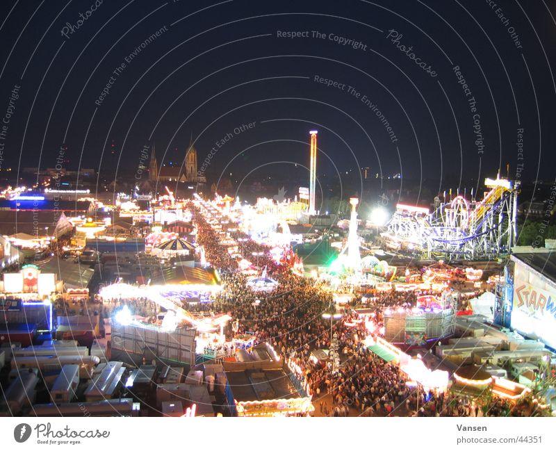 Oktoberfest von oben Feste & Feiern Freizeit & Hobby Oktoberfest Belichtung