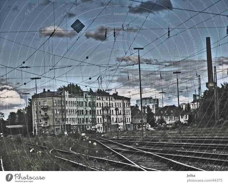 Getto Wolken Armut Eisenbahn Industrie Gleise Ghetto Industriekultur
