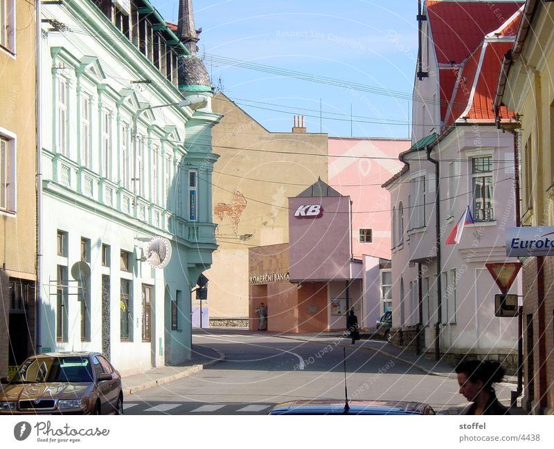 Vimperk Stadt Haus mehrfarbig Architektur
