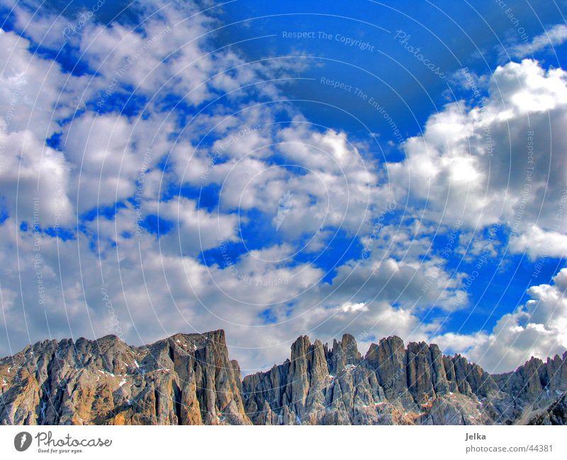 Dolomiti Berge u. Gebirge Himmel Wolken Alpen Heimweh Fernweh Hoffnung alpin Kalkalpen Dolomiten Italien Veneto Trient Südtirol Wolkenhimmel Norden norditalien